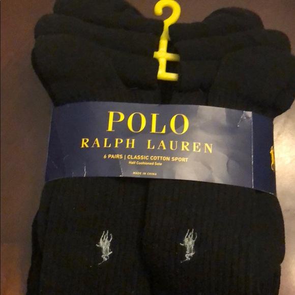 Lauren Pack 6 Ralph Socks Of Nwt Polo wOPukXiTZ